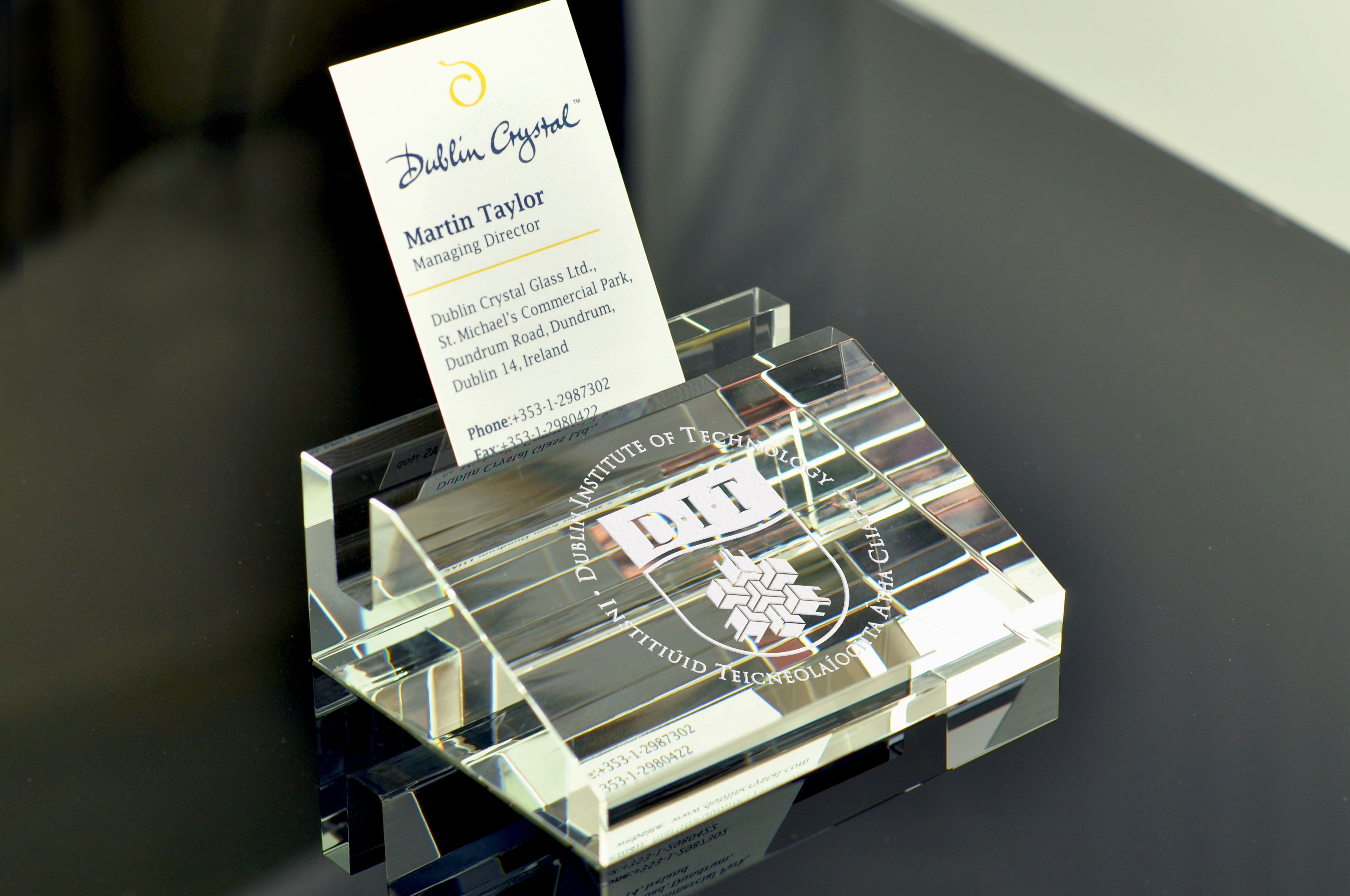 Business card holder dublin crystal glass limited dublin crystal business card holder reheart