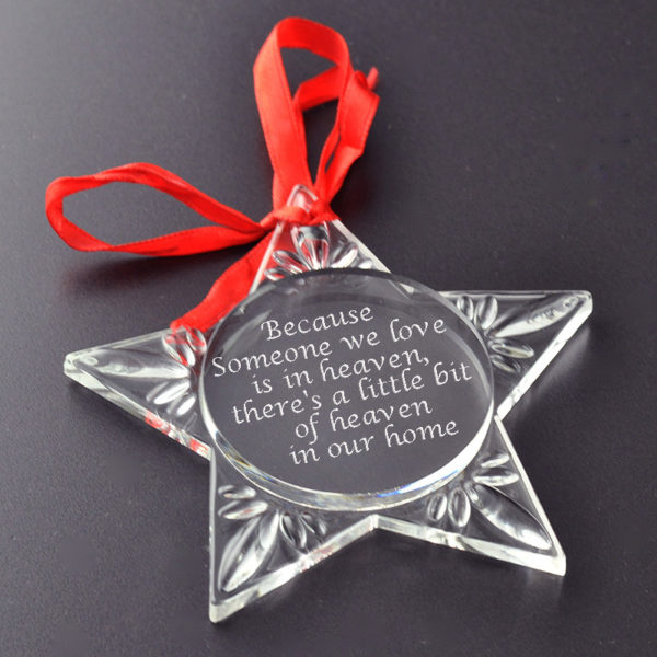 Personlised christmas star decoration