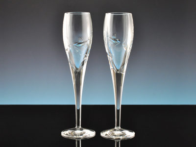 Crystal Dove Champagne Flutes